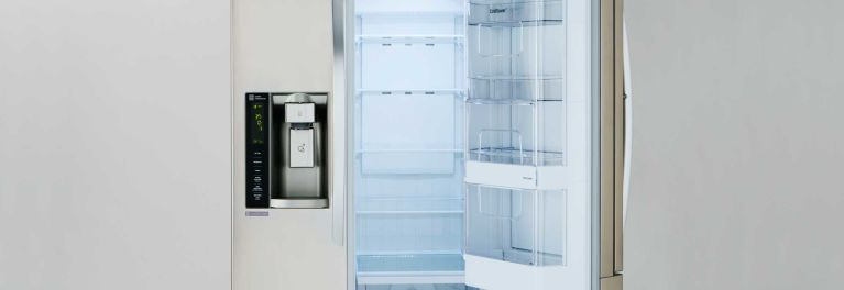 A refrigerator with kid-friendly features.