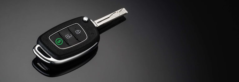 A photo of a car key.