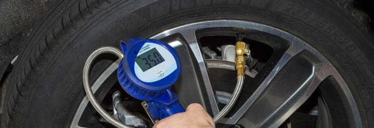 Checking tire pressure is a tire maintenance tip