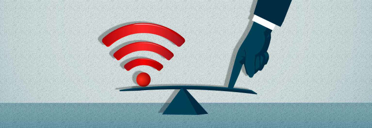 Conceptual artwork for an article on net neutrality.