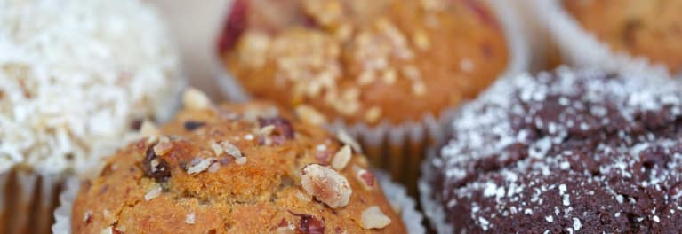 Muffins, a source of trans fat.