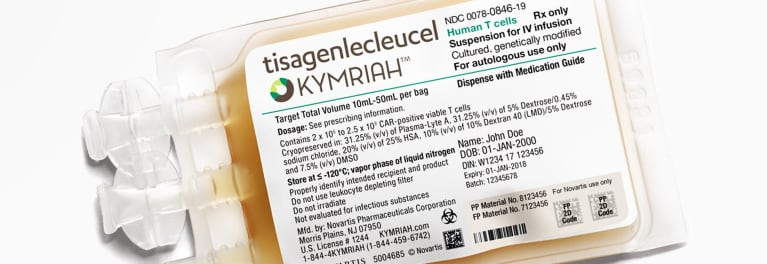 A package of Kymriah the first gene therapy