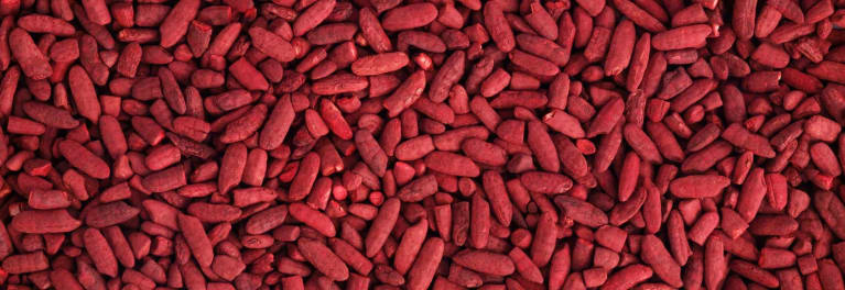 Red yeast rice supplements are made from red yeast rice, shown here.