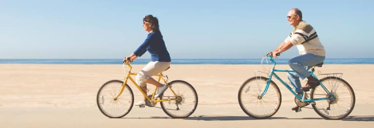 Easy exercise can mean riding a bike or gardening.