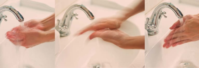 Hand-washing is critical for prevention of infection.