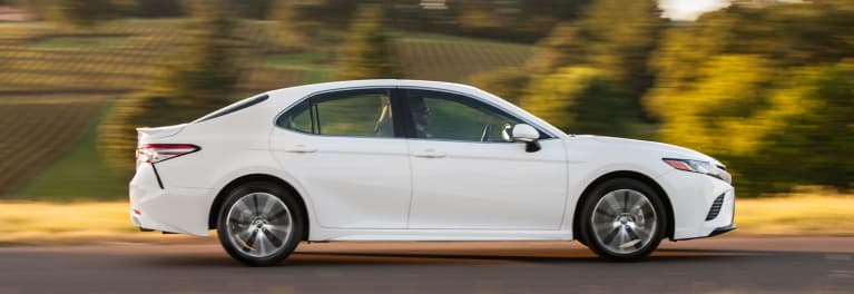 A white sedan that's part of the Toyota and Lexus recall