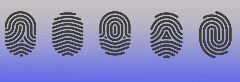 Data Privacy Day, represented by an illustration of fingerprints.