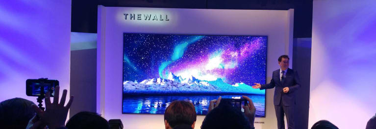 Samsung LCDs and the Wall MicroLED challenge OLEDs in performance