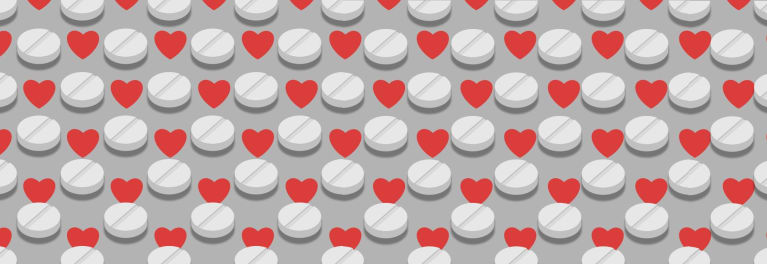 Aspirin and hearts.