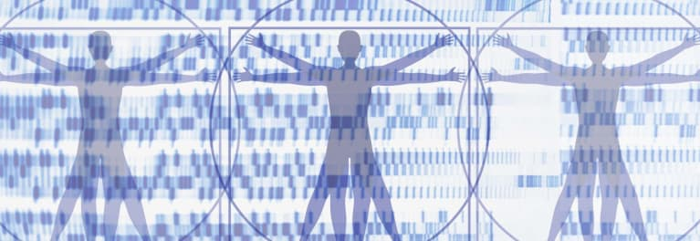 Image of human bodies to illustrate the DNA-based nutrigenomics for weight loss.