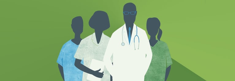An Illustration Of Natural Doctors And Other Medical Professionals