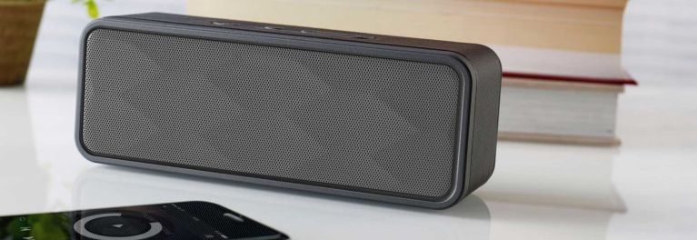 A photo of a small wireless speaker to illustrate an article on the best wireless speakers.