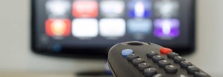 This story on cord cutters is illustrated with a photo of a television and remote control
