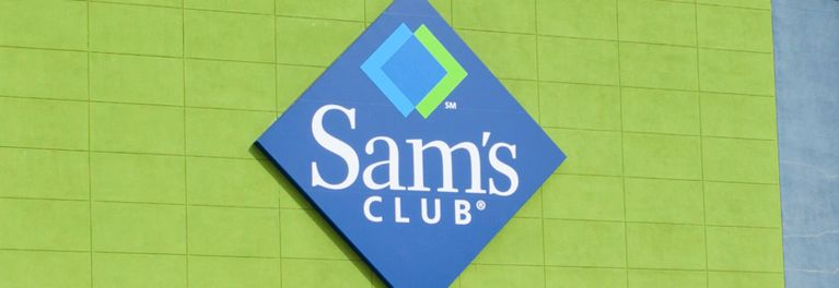 Photo of Sam's Club logo and signage for Sam's Club Black Friday sale.