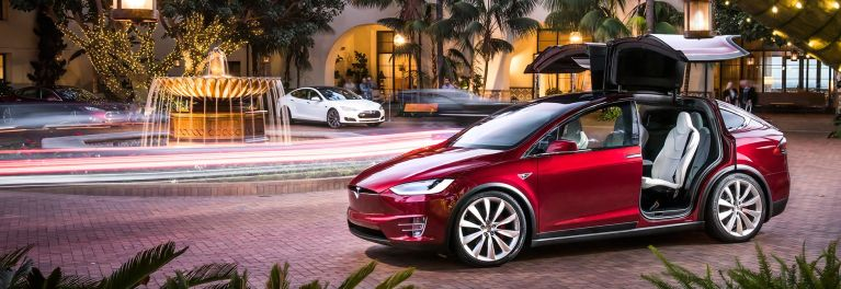 Tesla Model X doors open