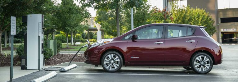 2016 Nissan Leaf electric vehicle charging