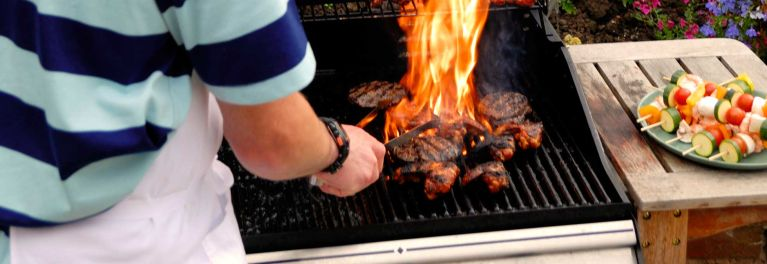 How to treat a burn from grilling.