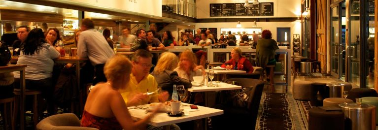 People in a restaurant.