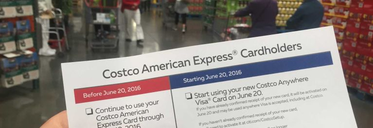 The Citi Costco Anywhere cash-back credit card was activated today.