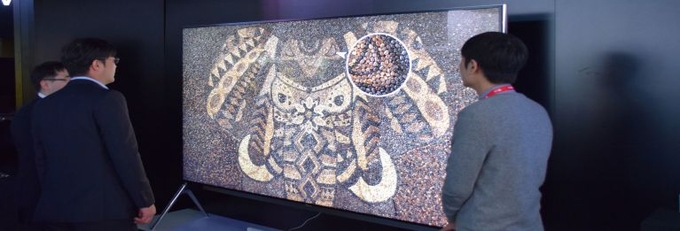LG's 8K television at CES 2016