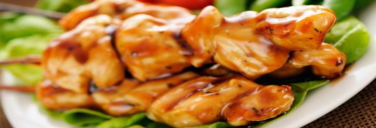 A healthier buffalo wings recipe using broiled chicken strips.